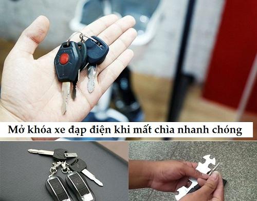 mở khóa xe đạp điện khi mất chìa