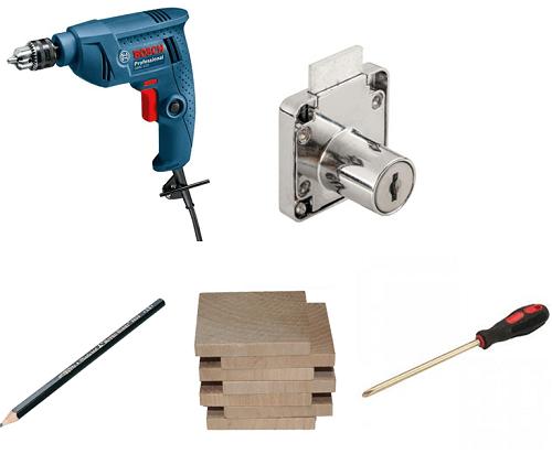 cách lắp khóa tủ gỗ