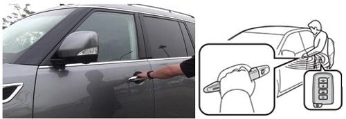 cách mở khóa cửa ô tô bên ngoài
