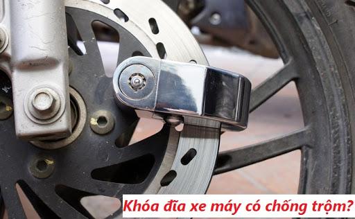 Khóa đĩa xe máy có an toàn không?