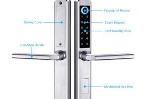 Ưu nhược điểm và ứng dụng của khóa vân tay lắp cho cửa nhôm Xingfa